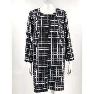 Alfani Long Jacket Plus Sz 2X Black White Check